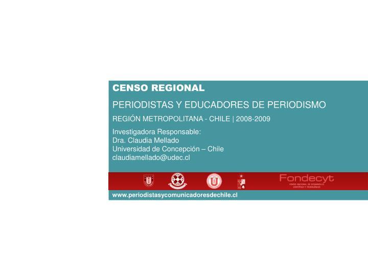 CENSO REGIONAL