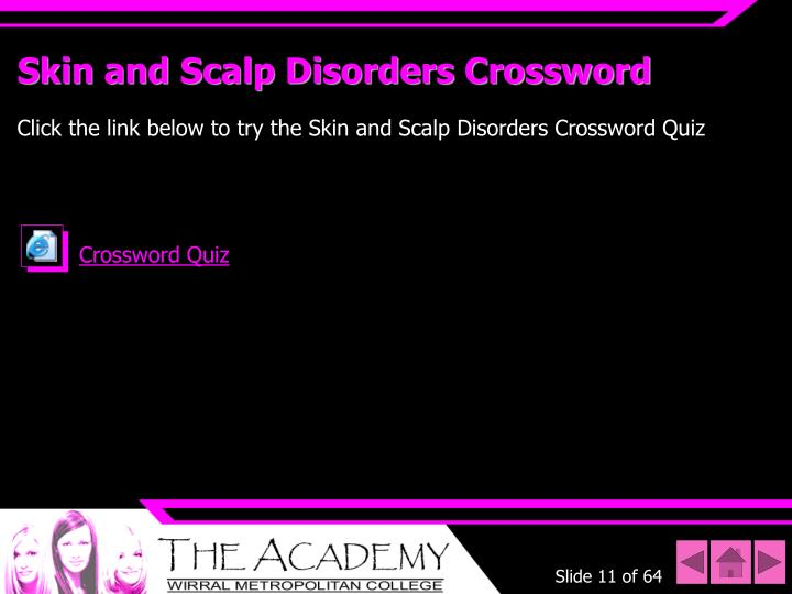 Skin and Scalp Disorders Crossword
