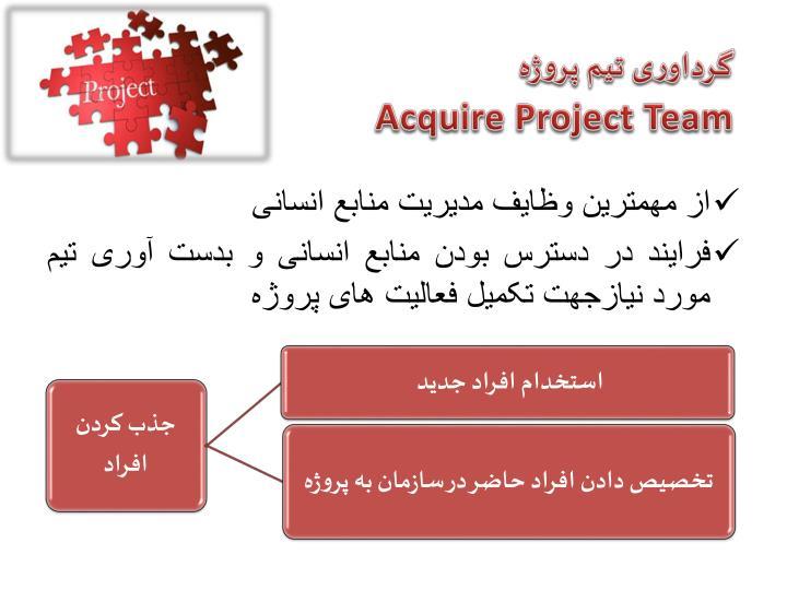 گرداوری تیم پروژه