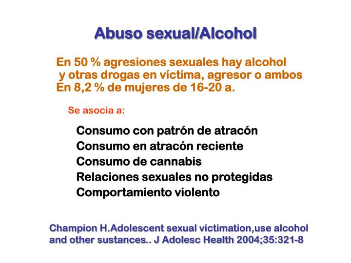 Abuso sexual/Alcohol