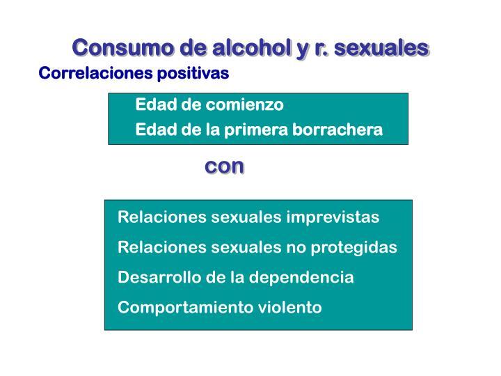 Consumo de alcohol y r. sexuales