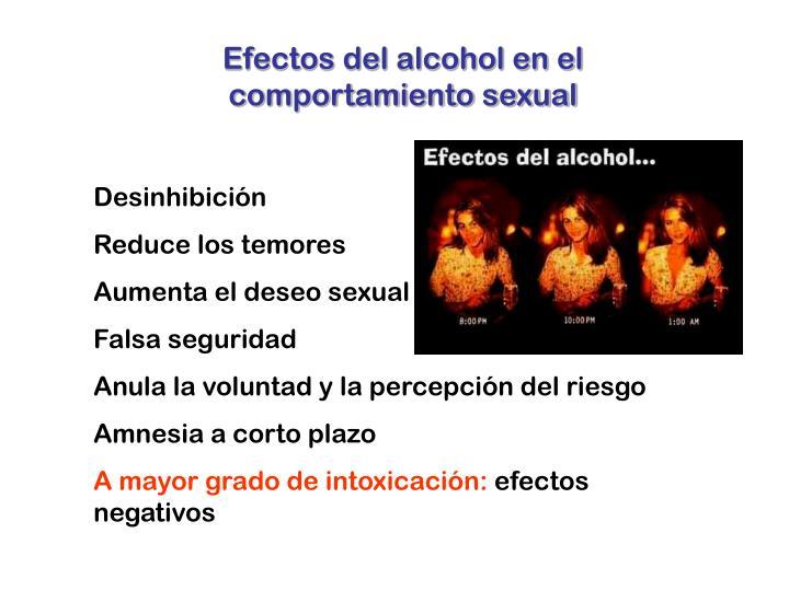 Efectos del alcohol en el comportamiento sexual