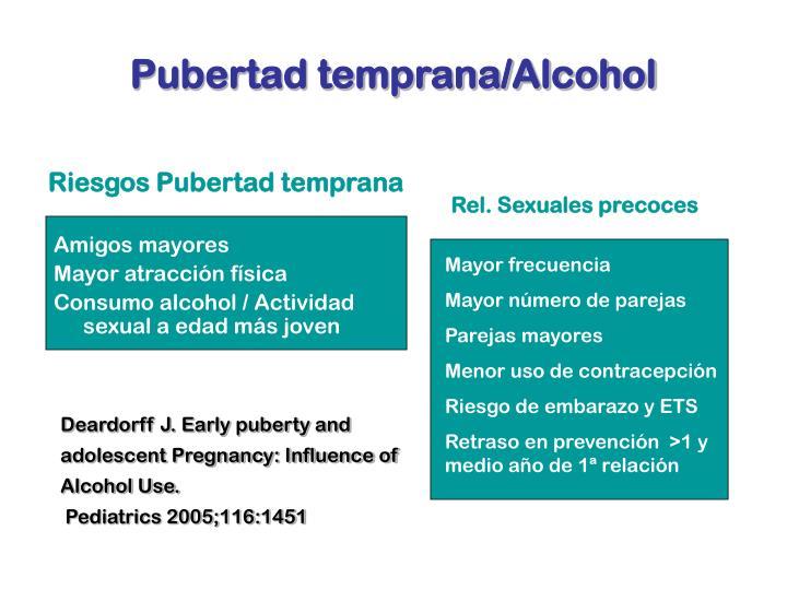 Pubertad temprana/Alcohol