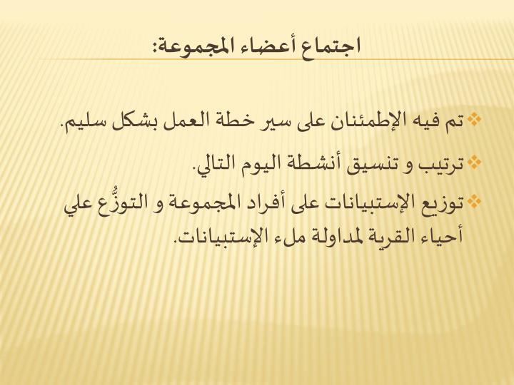 اجتماع أعضاء المجموعة: