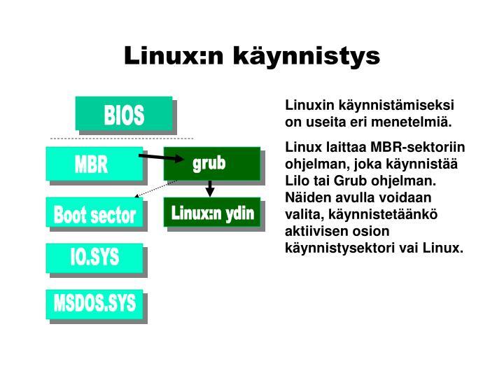 Linux:n käynnistys