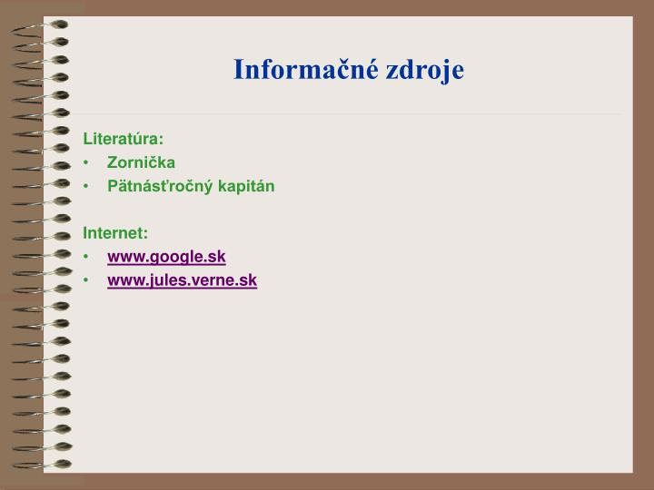 Informačné zdroje