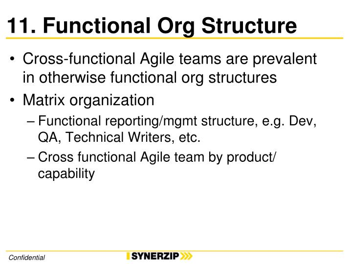 11. Functional Org Structure