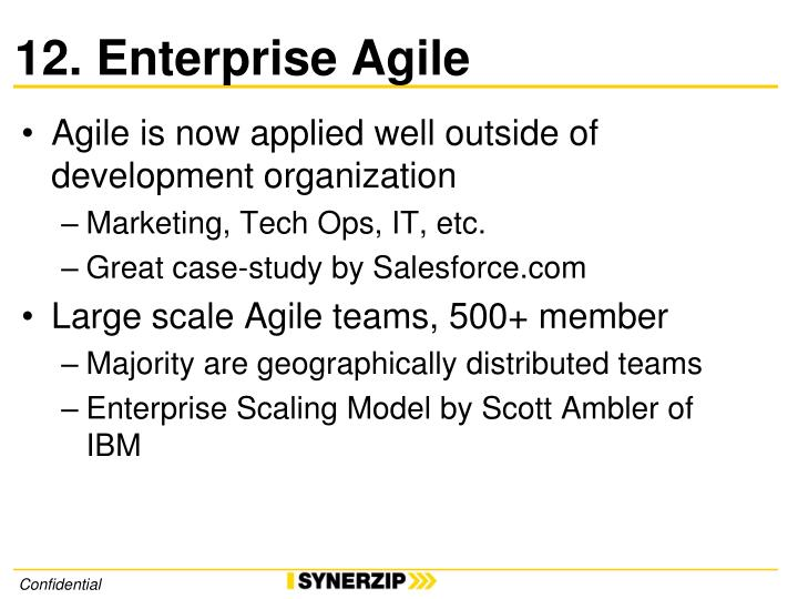 12. Enterprise Agile