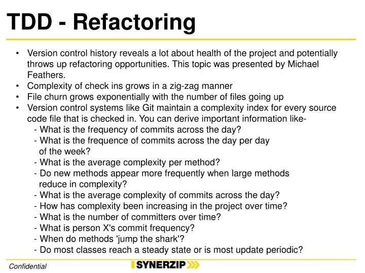 TDD - Refactoring