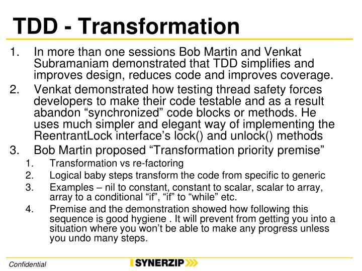 TDD - Transformation