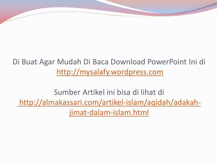 Di Buat Agar Mudah Di Baca Download PowerPoint Ini di