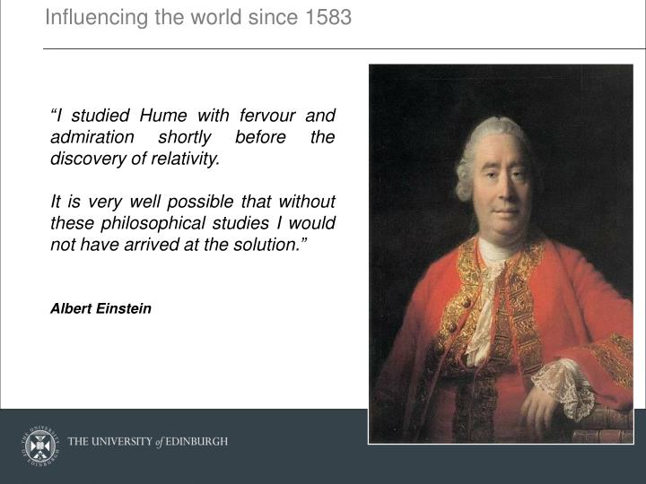 Influencing the world since 1583
