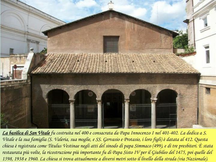 La basilica di San Vitale