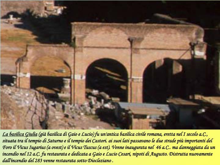 La basilica Giulia