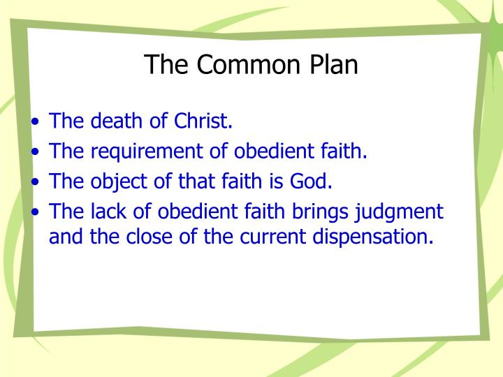 The Common Plan