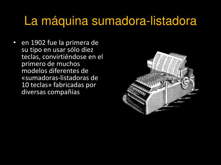 La máquina sumadora-