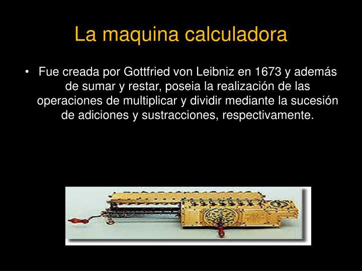 La maquina calculadora