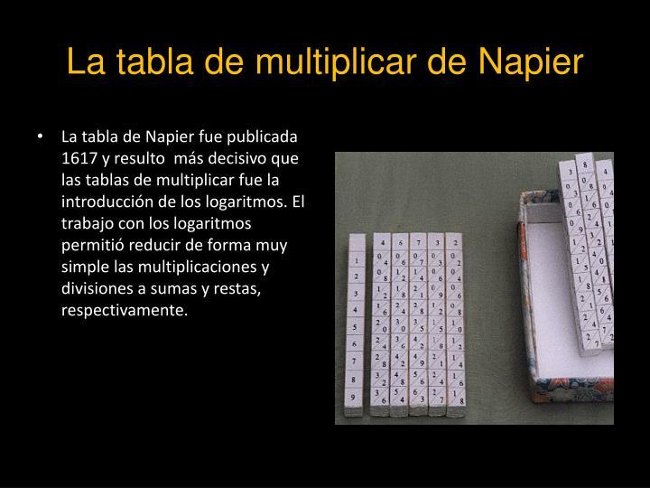 La tabla de multiplicar de