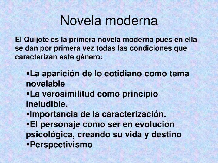 Novela moderna