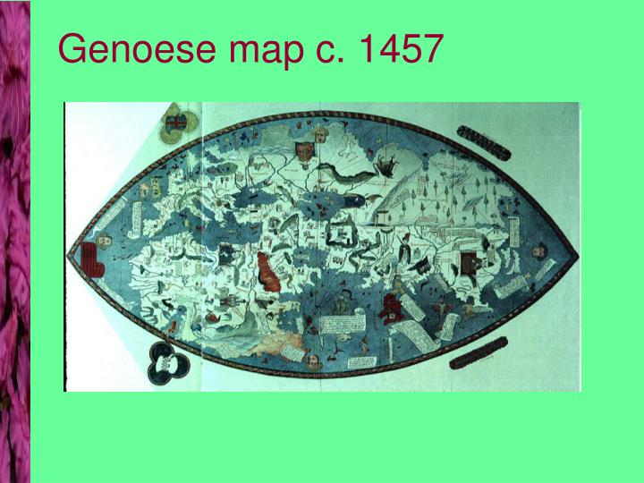 Genoese map c. 1457