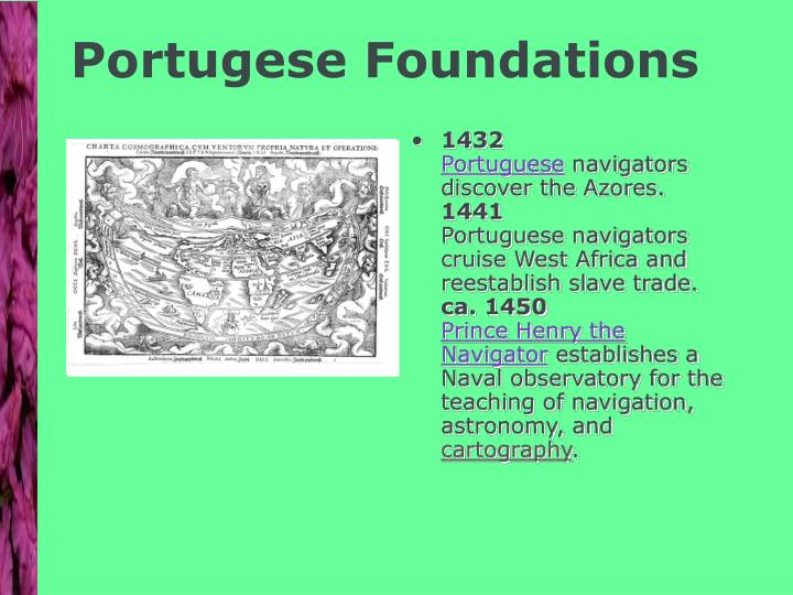 Portugese Foundations