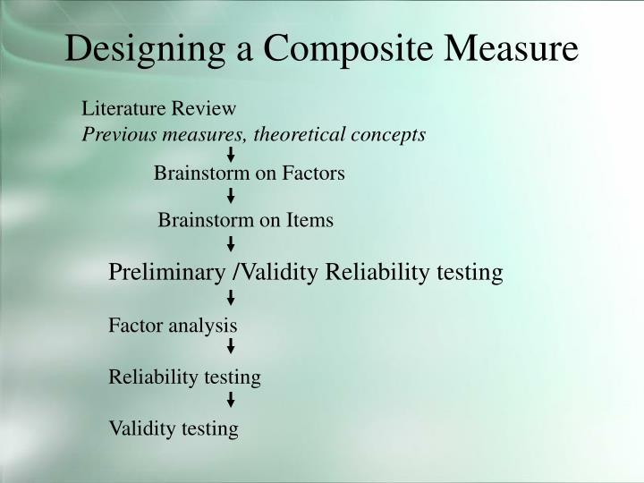 Designing a Composite Measure