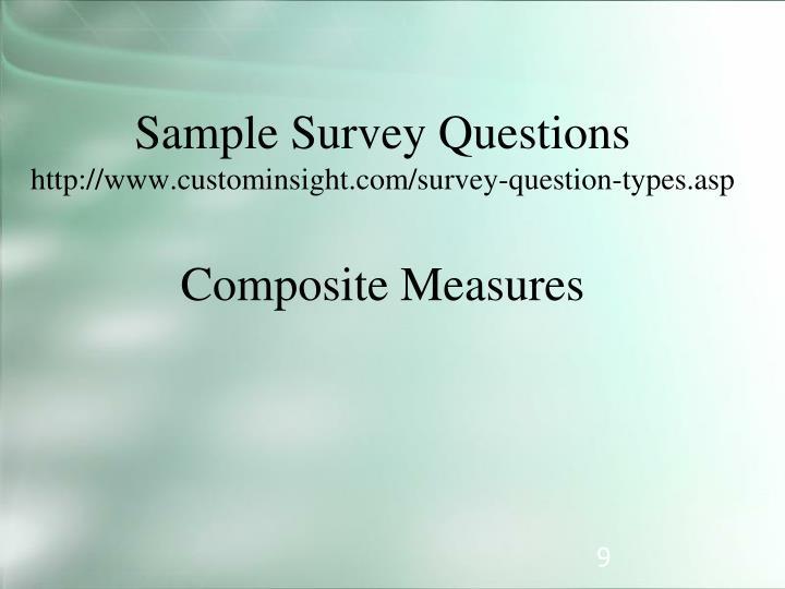 Sample Survey Questions