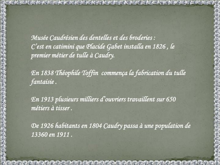Musée Caudrésien des dentelles et des broderies :