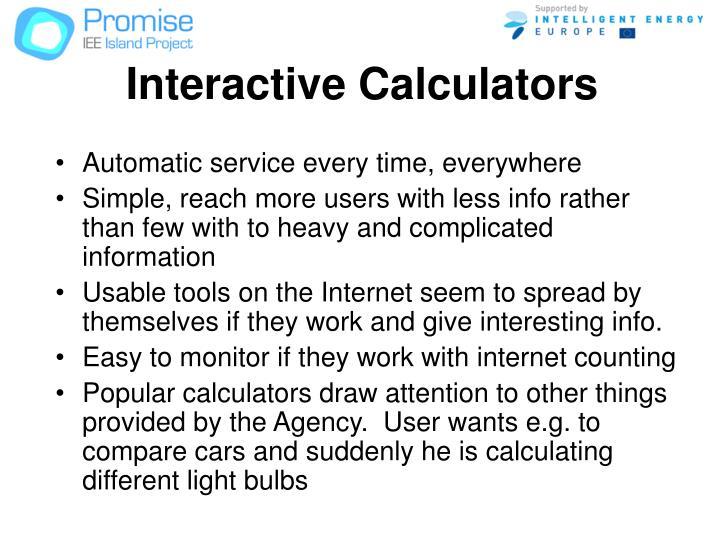 Interactive Calculators