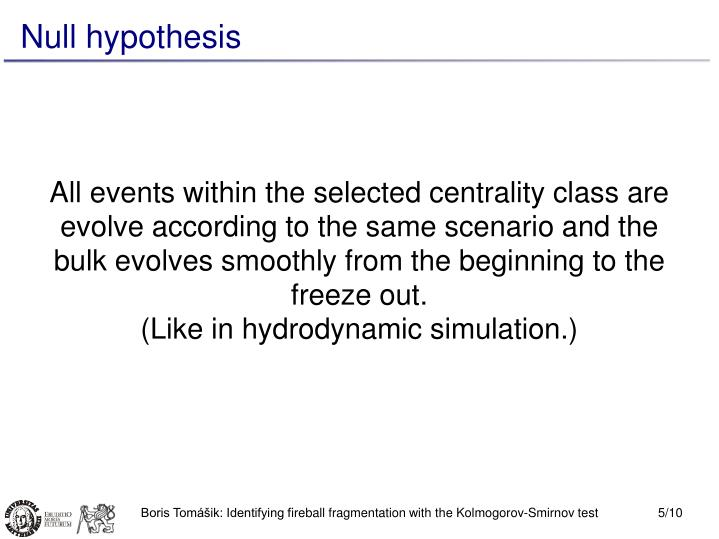All events within the selected centrality class are evolve according to the same scenario and the bulk evolves smoothly from the beginning to the freeze out.