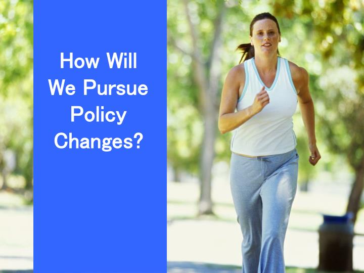 How Will We Pursue Policy Changes?