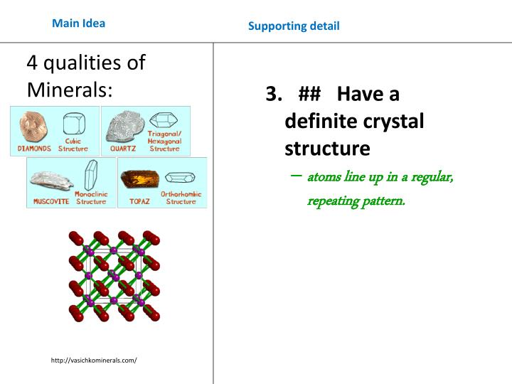 3.   ##   Have a definite crystal structure