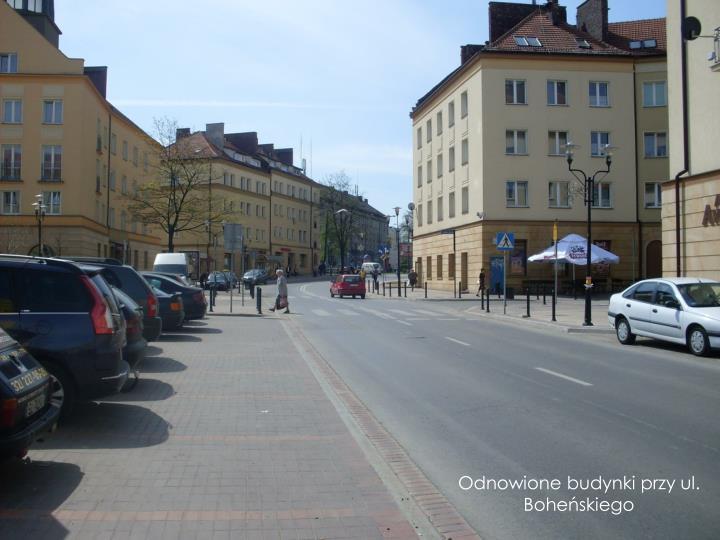 Odnowione budynki przy ul. Boheńskiego