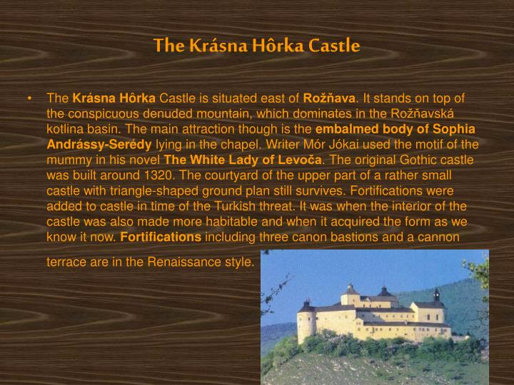The Krásna Hôrka Castle