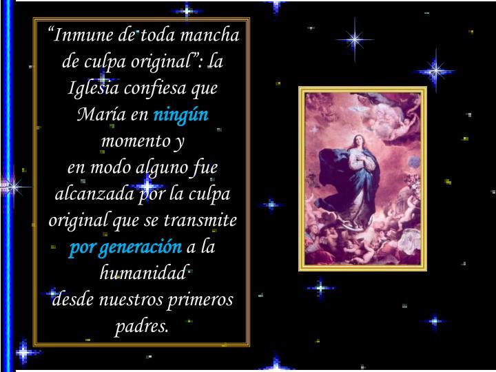 """""""Inmune de toda mancha de culpa original"""": la Iglesia confiesa que María en"""
