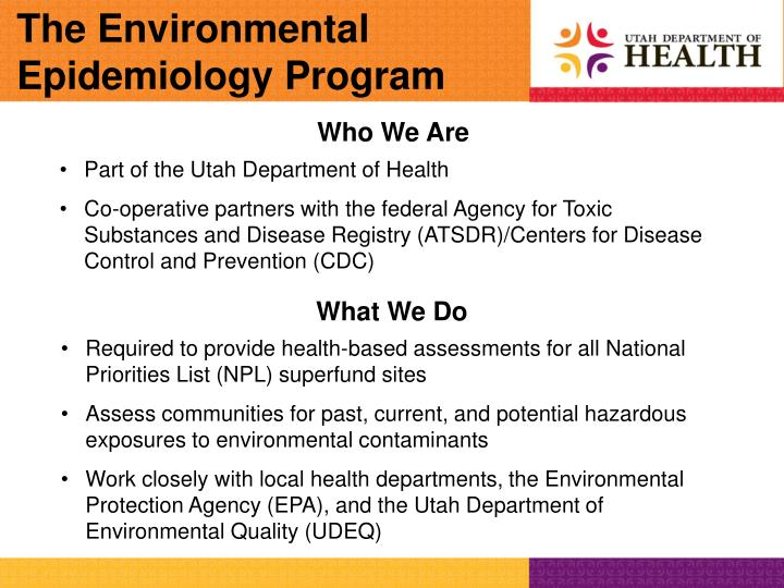 The Environmental Epidemiology Program