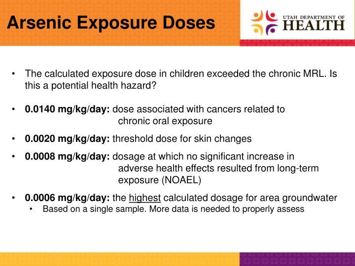 Arsenic Exposure Doses