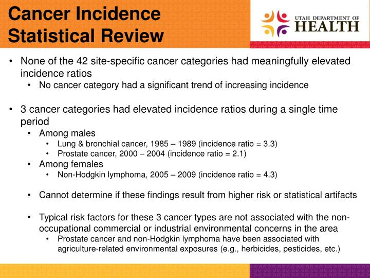 Cancer Incidence Statistical Review