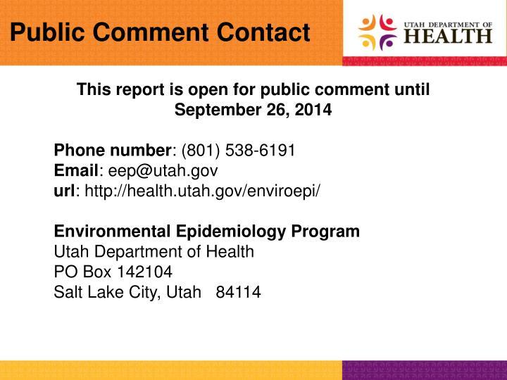 Public Comment Contact