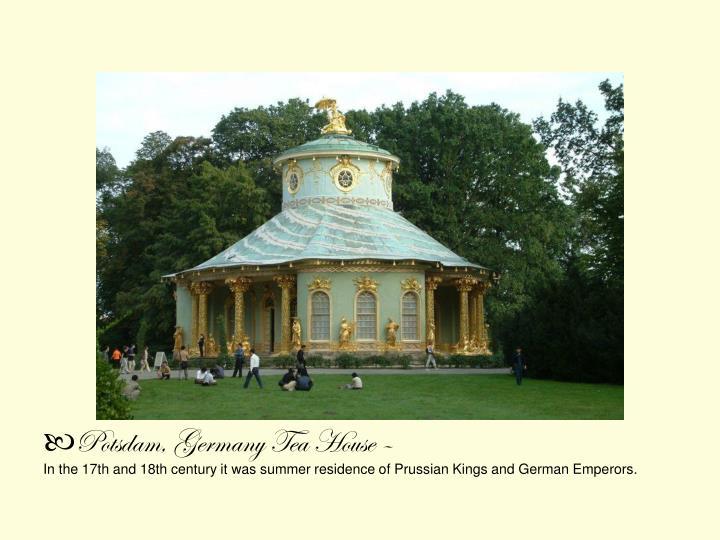 Potsdam, Germany Tea House –