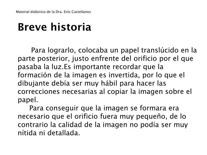 Material didáctico de la Dra. Enís Castellanos