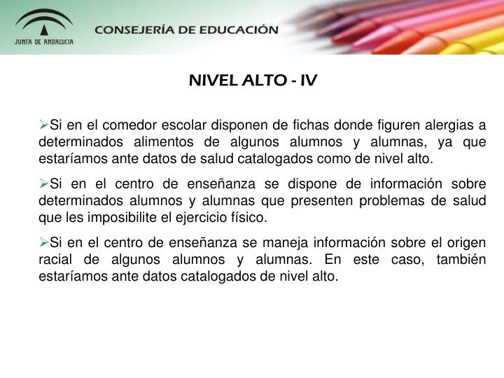 NIVEL ALTO - IV