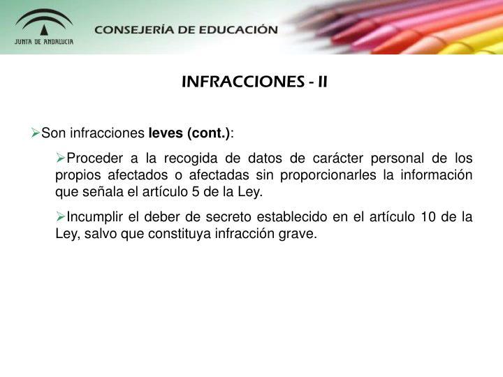 INFRACCIONES - II