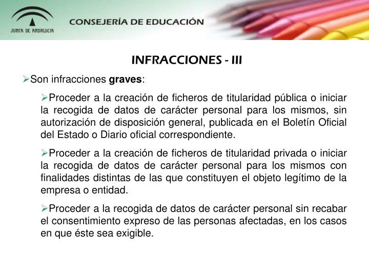 INFRACCIONES - III