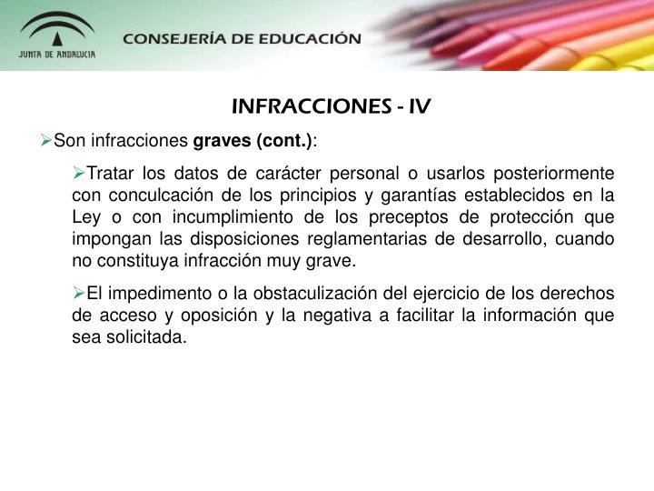 INFRACCIONES - IV