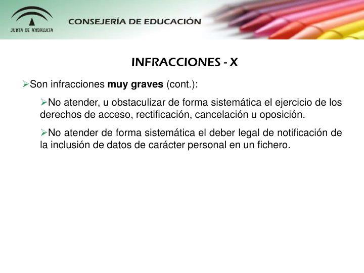 INFRACCIONES - X