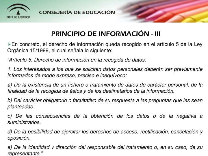 PRINCIPIO DE INFORMACIN - III
