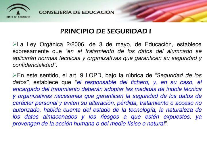 PRINCIPIO DE SEGURIDAD I