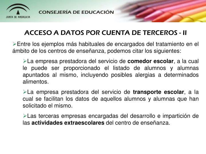 ACCESO A DATOS POR CUENTA DE TERCEROS - II