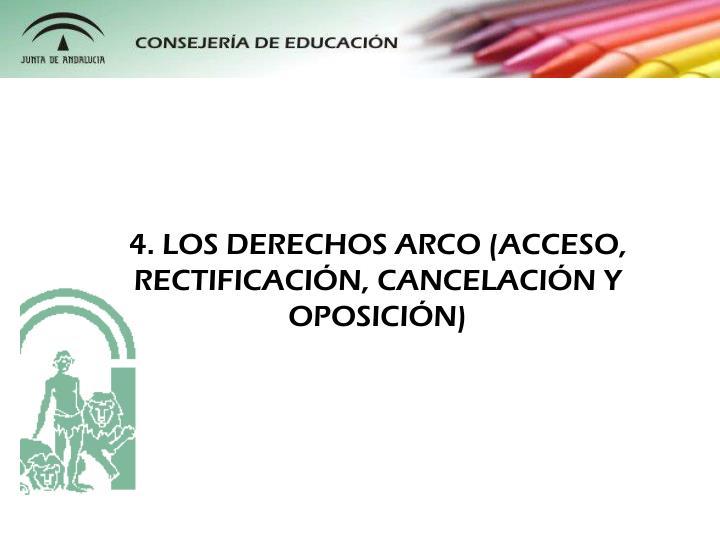 4. LOS DERECHOS ARCO (ACCESO, RECTIFICACIN, CANCELACIN Y OPOSICIN)